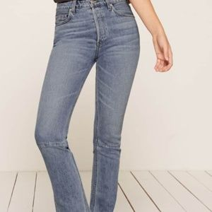 Reformation Petites Brooke High Straight Jean
